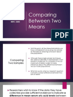 6 - Comparing 2 Sample Means