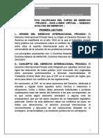 PRIMER CONTROL - DERECHO INTERNACIONAL PRIVADO