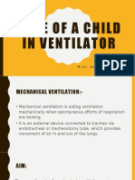 draft of CARE OF A CHILD IN VENTILATOR