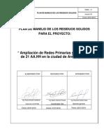 PLAN DE MANEJO DE RESIDUOS SOLIDOS - OBRA