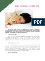 5 sfaturi despre sanatate de evitat