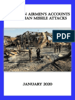 American Airmen's Accounts of Iranian Missile Attack of January 2020