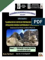 Módulo 7 - PERFORACIÓN Y VOLADURA EN MINERIA A TAJO ABIERTO NO METALICA (03-Ago-17)