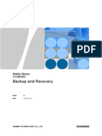 Mobile Money V100R003 Backup and Recovery 01