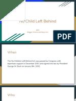 2001- no child left behind