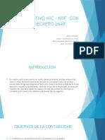 COMPARATIVO NIC – NIIF   Y DECRETO 2649