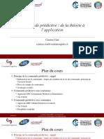 Commande Predictive de La Theorie a Lapplication CV