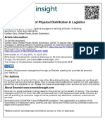 International Journal of Physical Distribution & Logistics