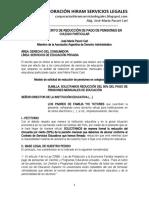 Modelo Escrito Reducción Pensiones Colegio Particular - Autor José María Pacori Cari