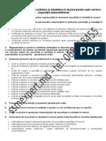 Lista Actelor Privind Securitatea Și Sănătatea În Muncă Pentru Stomatologie (Cabinet Stomatologic)