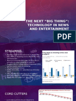 technology in news and entertainment