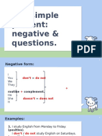 The simple present negative & questions