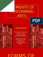 Elements of Performing Arts- LITERATURE