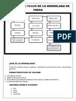 DIAGRAMA DE FLUJO DE LA MERMELADA DE FRESA
