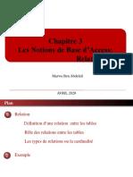 chapitre 3 Les notions de base d'access Relation