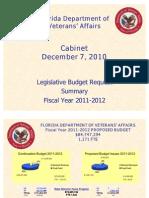 FDVA Summary Budget