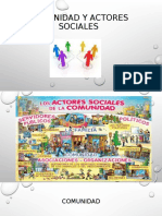 COMUNIDAD Y ACTORES SOCIALES