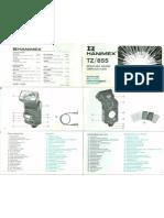 Hanimex TZ-855 Adjustable Bounce Computer Flash Manual