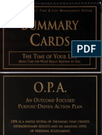 Tony Robbins - Time of Your Life - Summary Cards Scan