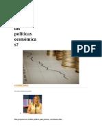 Qué son las políticas económicas