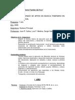 Programas de Guitarra Principal y Complementaria - Prof. Liceo