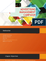 CHAPTER 5 ADVERTISING MANAGEMENT CAMPAIGN