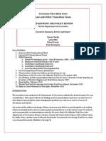Segment 001 of DOC Transition Report
