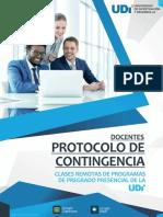 PROTOCOLO DE CONTINGENCIA PARA CLASES REMOTAS - UDI