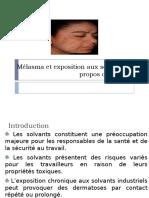 Mélasma et exposition aux solvants.pptx