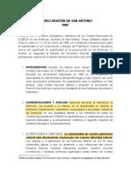 LA DECLARACION DE SAN ANTONIO_1996