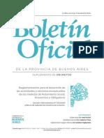 Reglamentación para el desarrollo de las actividades y servicios exceptuados de las medidas de Aislamiento Social, Preventivo y Obligatorio