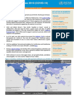 WHO report on COVID-19- April 21, 2020