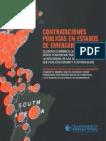 Contrataciones públicas en Estados de Emergencia / Transparencia International