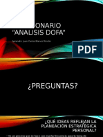 Evidencia cuestionario ANALISIS DOFA