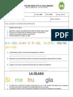 TALLER DE ACENTUACIÓN GRADO SEXTO