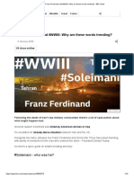 Franz Ferdinand and #WWIII_ Why are these words trending_ - BBC News