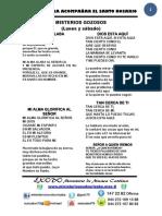 CANCIONERO DE CANTOS CUARESMA 2013