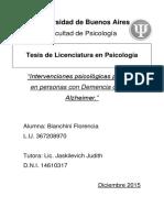 Intervenciones psicológicas posibles en personas con Demencia de tipo Alzheimer - Tesis Bianchini Florencia actualizado.pdf