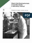 Starch gel electrophoresis of conifer seeds