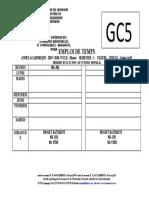 Emploi de Temps GCV5 - DLA-2