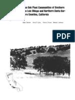 Blue oak plant communities of southern San Luis Obispo and northern Santa Barbara Counties