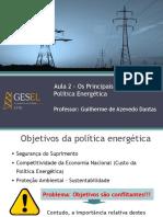 Desafios da Política Energética - Aula 2