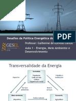 Desafios da Política Energética - Aula 1