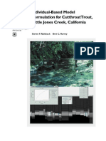 Individual-based model formulation for cutthroat trout, Little Jones Creek
