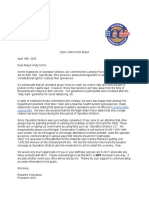 Open letter to Lansing Mayor from the Michigan Conservative Coalition