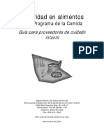 SEGURIDAD ALIMENTARIA PARA PROVEEDORES DE CUIDADO INFANTIL