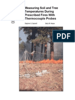 Measuring soil and tree temperatures during prescribed fires with thermocouple probes