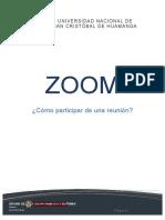 ZOOM - Instructivo de participante