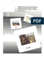 Monitoring environmental change with color slides