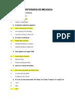 CUESTIONARIO DE MECÁNICA 2019